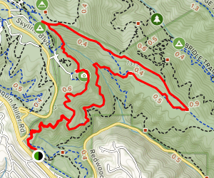 Dunn, Graham, West Ridge and Baccharis Loop Map