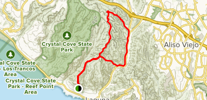 Bommer Ridge, Laurel Canyon and Laguna Ridge Trail Loop Map