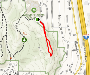 Torrey Pines Extension - Red Ridge Trail Map