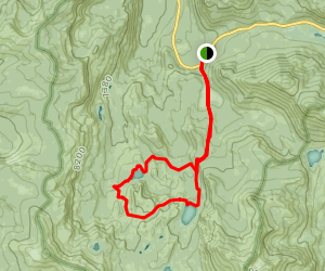 Dardenelles Lake and Round Lake Loop Map