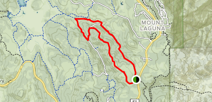 Red Trail Roost and Agua Dulce Trail Loop Map