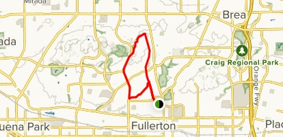 Juanita Cooke, Bud Turner and Hiltscher Park Trail Loop Map