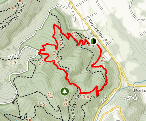 Alambique, Redwood, and Bear Gulch Loop Map