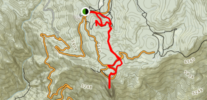 Bear Hill and Moro Rock Map