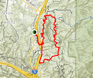 Elsmere Canyon 6 Mile Loop Map