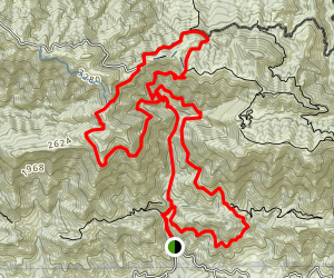 Romero Canyon and Montecito Loop (CLOSED) Map
