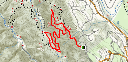 Valley View Trail to Blue Oak Trail Loop Map