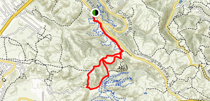 Two Peaks, Big Valley, Kestrel Trail Loop Map