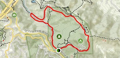 Bay Area Ridge, Round Top Loop, and Volcanic Trail Loop Map