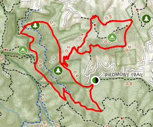 Dawn Falls and King Mountain Loop Map