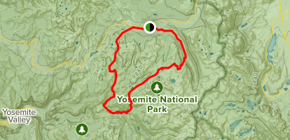 Tuolome, Sunrise and Merced Lakes, and Vogelslang Loop Map