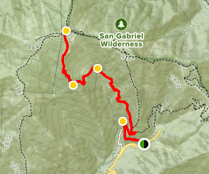 Baldy Bowl Trail to Mount San Antonio Map