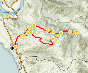 Pomo Canyon Red Hill Trail Map