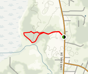 Lake Earl Coastal Lagoon Trail Map