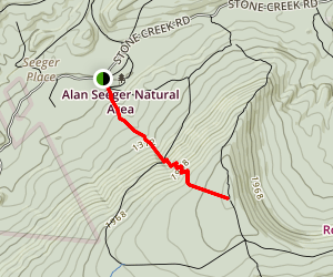 Greenwood Spur Trail and Johnson Trail Map