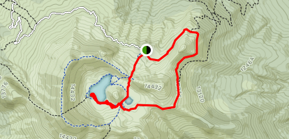 Nevado de Toluca Lagoons Loop Trail Map