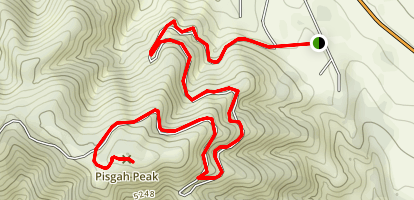 Pisgah Peak Trail  Map