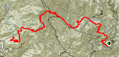 Mount Wilson Road and Upper Winter Creek Trail Map