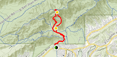 Eliminator to Lost Ranch Mine Trail Loop Map