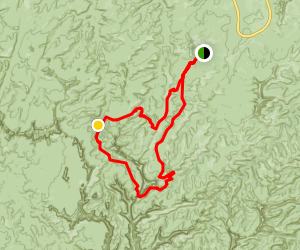 Elephant Hill, Druid Arch, and Snowflat Loop Trail Map