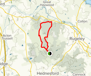 Cannock Chase Sherbrook Valley Loop Map