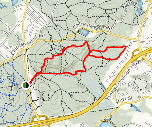 Blue Hills Nahanton Hil Loop Map