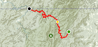 Jacks River Trail Through Hike Map