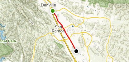 San Ramon Valley Iron Horse Trail: Danville to Pine Valley Road Map