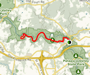 Daniels Access, Powerline and Old Main Line Trail Map