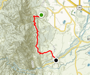 N.C.A.R. and Mesa Trail: Table Mountain to Boulder Creek Map