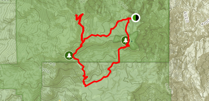 Willow Creek Trail, PCT, and San Jacinto Peak Loop Map
