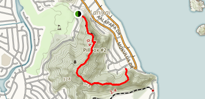 Kaiwa Ridge (Pillbox) Trail Map
