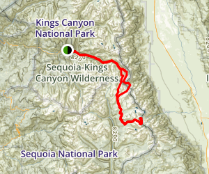 King's Canyon to Mt Whitney Map