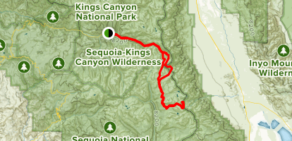 King's Canyon to Mt Whitney - California | AllTrails on giant sequoia national park map, kings canyon np map, california national parks map,