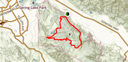 Warren Richardson, Two Quarry Trail, Marsh Trail, and Canyon Trail Loop Map