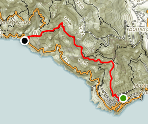 Path of the Gods: Praiano To Positiano Map
