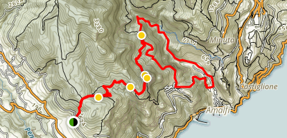 Valle delle Ferriere Loop via San Lazzaro Map