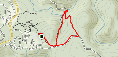 Right Meadow and Left Meadow Trails Loop Map