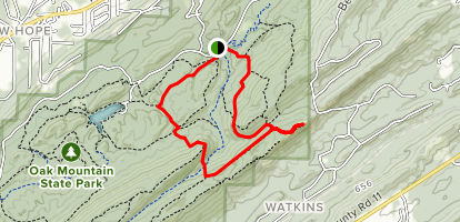 King's Chair Overlook via White and Blue Trail Loop Map