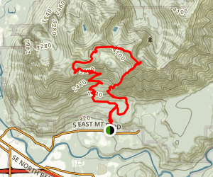 Teneriffe Falls and Mount Teneriffe Loop Map