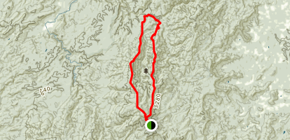 East Cowpen to Jack's River and Rough Ridge Loop Map