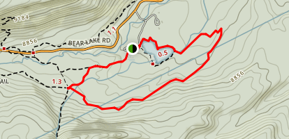 Sprague Lake, Glacier Creek and Storm Pass Loop Map
