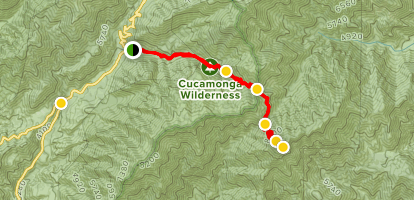 Icehouse Canyon to Cucamonga Peak Trail Map