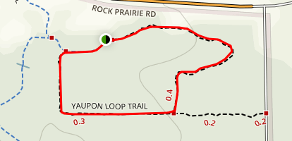 Yaupon Loop Trail Map
