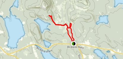 Mead Mountain and Esker Path Map