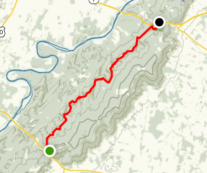 Appalachian Trail: Roller Coasters Section Map