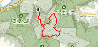 Raccoon and Bluebird Loop Trails Map