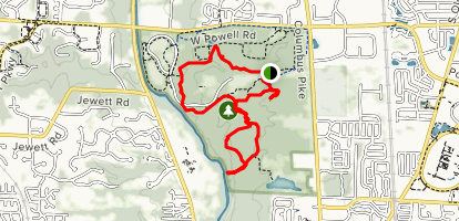 Dripping Rock and Overlook Loop Map
