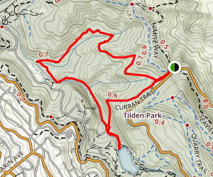 Meadows Canyon, Wildcat Gorge and Curran Trail Loop Map