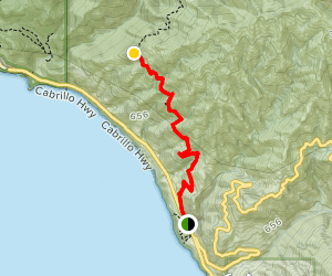 Vicente Flats Day Hike Map